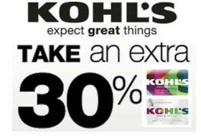 """Kohls EXTRA 30% Off Coupon valid 01/17/2019- 01/27/2019 with """"Kohls Charge"""""""