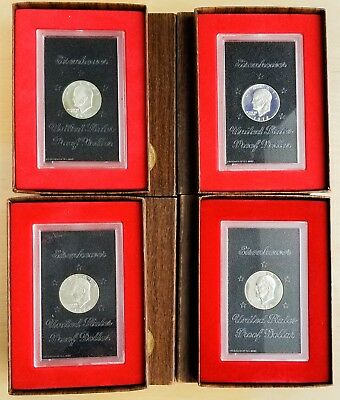 1971-1974 Brown Ike Lot of 4 Coins, 40% Silver, 99c Start Bid [Jan20_1]