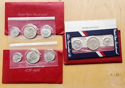 1976 Bicentennial Silver UNC Set, Lot of 3, As Shown, 99c Start Bid [Jan20_6]
