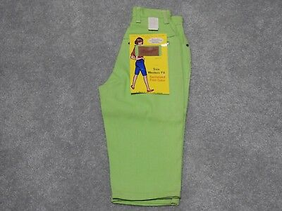 Vintage Misses Womens Wrangler High Waisted Green Denim Shorts  Size  5/6 Slim