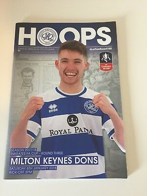 * 2017/18 - QPR v MK DONS  (FA CUP  3rd Round 6th January 2018) *