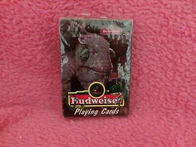 Budweiser Beer Iguanna Or Lizard Playind Cards 1998 Anheuser Bush New