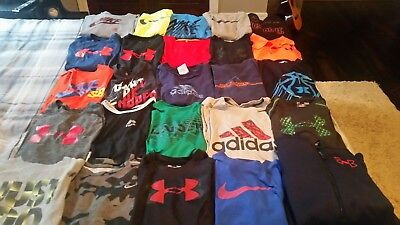 25 Under Armour, Nike ,adidas, Reebok Boys Large 14/16 T Shirts Hoodie Lot