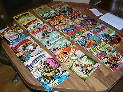 Lot of 18 Silver Age DC Comics Blackhawk No.'s 144, 151-152, 191, 194, 197-201,