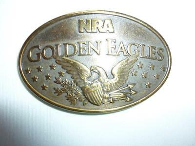 NRA GOLDEN EAGLES Brass Belt Buckle Made in USA