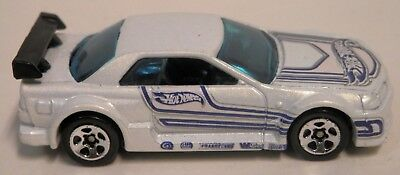 Htf Hot Wheels Rare Jdm White Copter Chase Nissan Skyline Gt-R R32 Euc See Pics