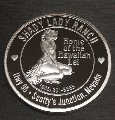 Stunning Rare Bunny Ranch 100 Mills .999 Fine Silver One 1 Oz Naughty Nude Coin