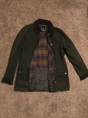 Barbour Ashby Mens Wax Jacket in Olive - Size Large