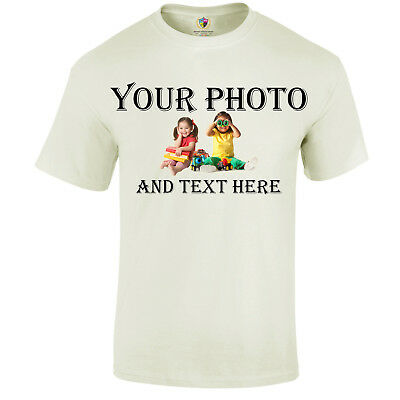 Personalised T-Shirt - Custom image/photo Printed Party Promotional | Kids/Adult