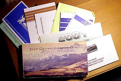 2001 Jeep GRAND CHEROKEE Owner's Manual w/Original Factory Supplements & Case