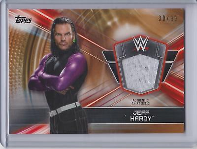 2019 Topps WWE Road to Wrestlemania BRONZE Shirt Relic Jeff Hardy #30/99