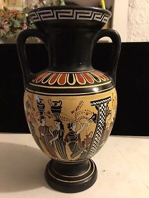 """D. Vassilopoulos No. 228 """"Virgins Fetching Water From Kalliroe's Fountain"""" Vase"""