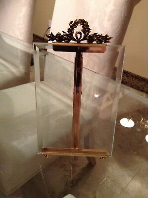 Vintage French Brass & Glass Photo Frame Ormolu