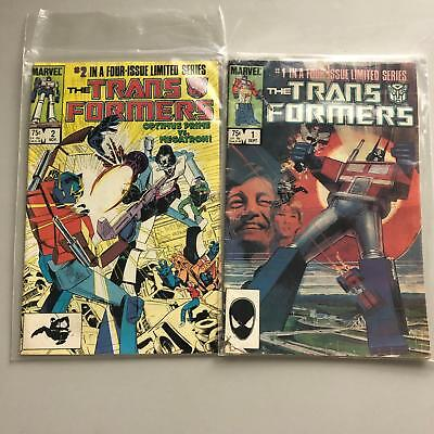 Lot of 2 Transformers (1984 Marvel) 3rd Printing #1 2 FN Fine