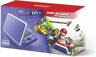 New Nintendo 2DS XL - Purple + Silver With Mario Kart 7 Pre-installed (NO TAX!)