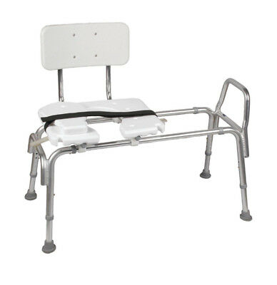 DMI 522-1734-1900 Heavy-Duty Sliding Transfer Bench with Cut-Out Seat-Brand New
