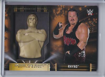 2019 Topps WWE Road to Wrestlemania Andre Battle Royal BRONZE Rhyno #65/99