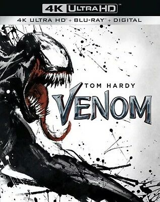 Venom(4K Ultra Hd+Blu-Ray+Digital)W/slipcover New Free Shipping