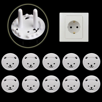 10x Power Kid Socket Cover Baby Child Protector Guard Mains Point Plug Bear New