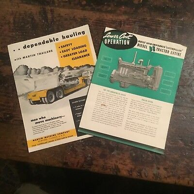 Pair of Mid Centry Industrial Machinery Flyers