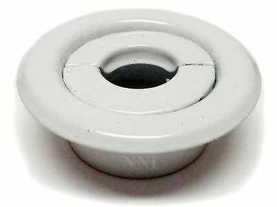 "Replacement Split Fire Sprinkler Recessed Escutcheon White- 1/2"" IPS"