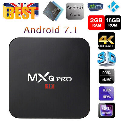 MXQ Pro 4K📺Android7.1📺Smart TV BOX📺S905W Quad Core 2GB+16GB📺64bit📺Wifi DLNA