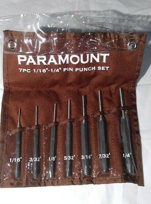 Paramount 7 Piece Pin Punch Set 1/16-1/4
