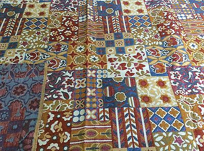 Vintage Folk/ Mission Style Arts and Crafts Decorator Fabric 53x 34.5