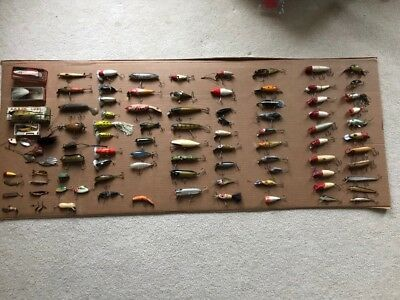 Old Vintage Antique Fishing Lures Rare Heddon Creek Chub Pfluger Lot Vintage 91