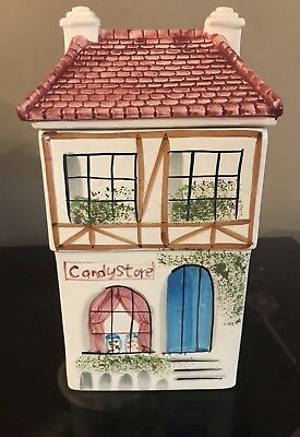 Candy Stand Store Cookie Jar Rainbowman 1994 Cottage House