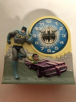1974 Batman & Robin Talking Alarm Clock Janex vintage batmobile