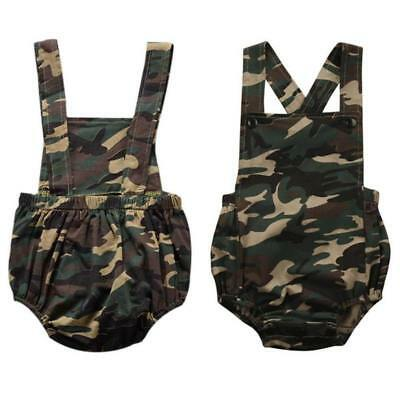 Newborn Kids Baby Boy Girls Camo Romper Bodysuit Jumpsuit Outfits Infant Clothes