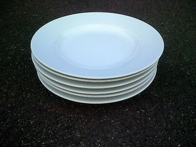 Lot of 6 POTTERY BARN 2 GREAT WHITE DINNER PLATES