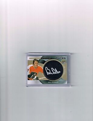 2018-19 Ud Trilogy Hockey Signature Puck Card Of Bill Barber #sp-Bb