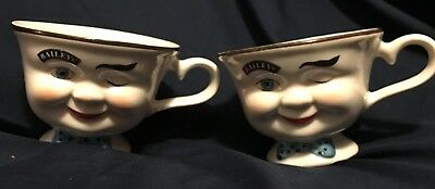2 Limited Edition Baileys Ceramic Mug YUM WINKING FACE Cup 6oz Coffee Tea