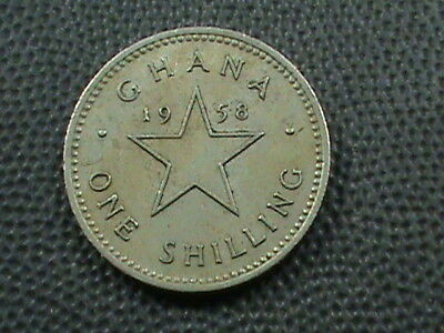 GHANA   1 Shilling   1958   ,   $ 2.99  maximum  shipping  in  USA