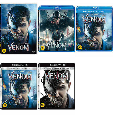 Venom - 4K, 3D, 2D Blu-ray, DVD UHD (2019) / Pick one!