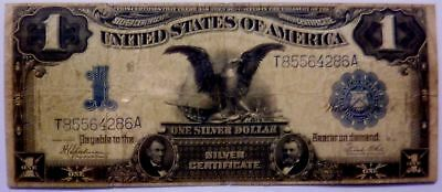 1899 Black Eagle $1.00 One Dollar Silver Certificate Note currency horse blanket