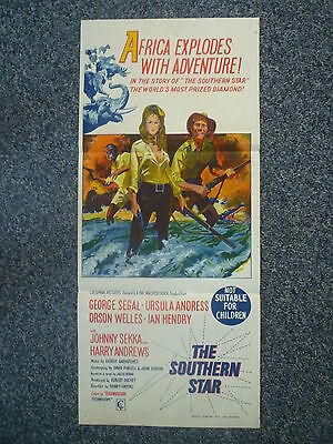 THE SOUTHERN STAR Original 1969 Australian Daybill Movie Poster Ursula Andress
