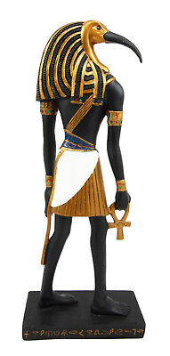 Ancient Egypt God Thoth Holding Ankh Thin Profile Figurine Egyptian Statue