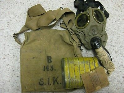 Wwi Army Gas Mask With Soldier I.d. & Marked 143Rd 36Th Division Meuse Argonne