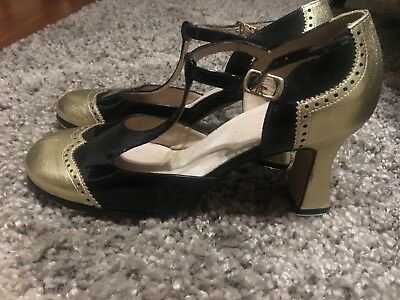 """Laduca Black Patent Leather 3"""" Teresa Tap Shoes Limited Edition Size 39"""