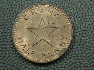 GHANA    1/2 Penny   1958   ,   $ 2.99  maximum  shipping  in  USA