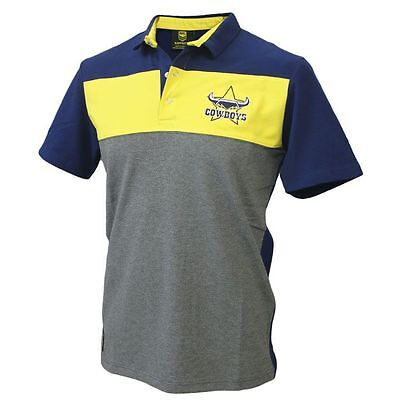 NRL North QLD Cowboys Cut & Sew Polo - Size Large  **SALE PRICE**
