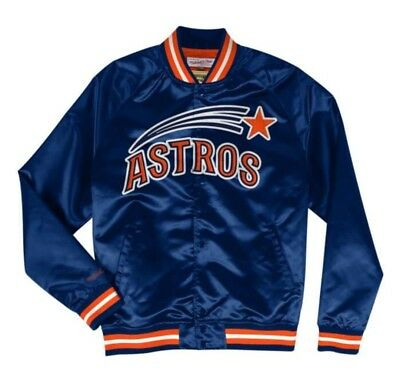 518117e3 Authentic Houston Astros Mitchell & Ness MLB Tough Seasons Satin Light  Jacket