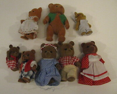 Sylvanian Families Calico Critters Bear Lot MUST SEE