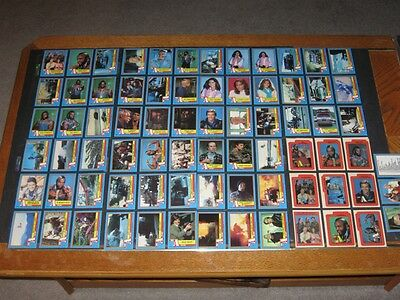 THE A TEAM © 1983 Topps Complete 66 Card & 12 Sticker Set + Wax Wrapper