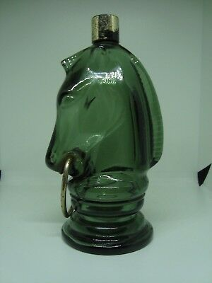 Vintage AVON COLLECTIBLE Perfume/cologne Bottle. GREEN CHESS KNIGHT!