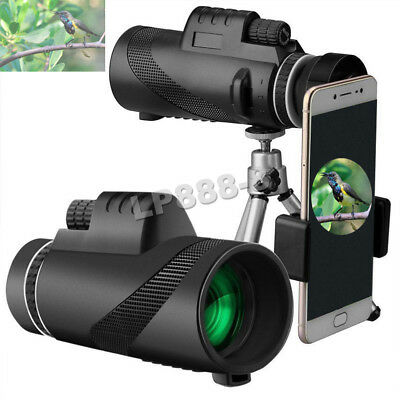 40X60 HD High-power Outdoor Hiking Telescope With Fast Smartphone Stand Holder