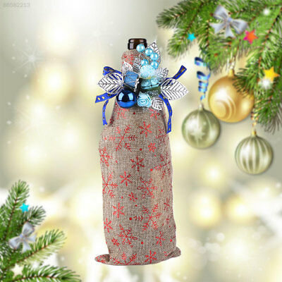 075D Christmas Wine Champagne Bottle Cover Bags Clothes Decorations Ornament